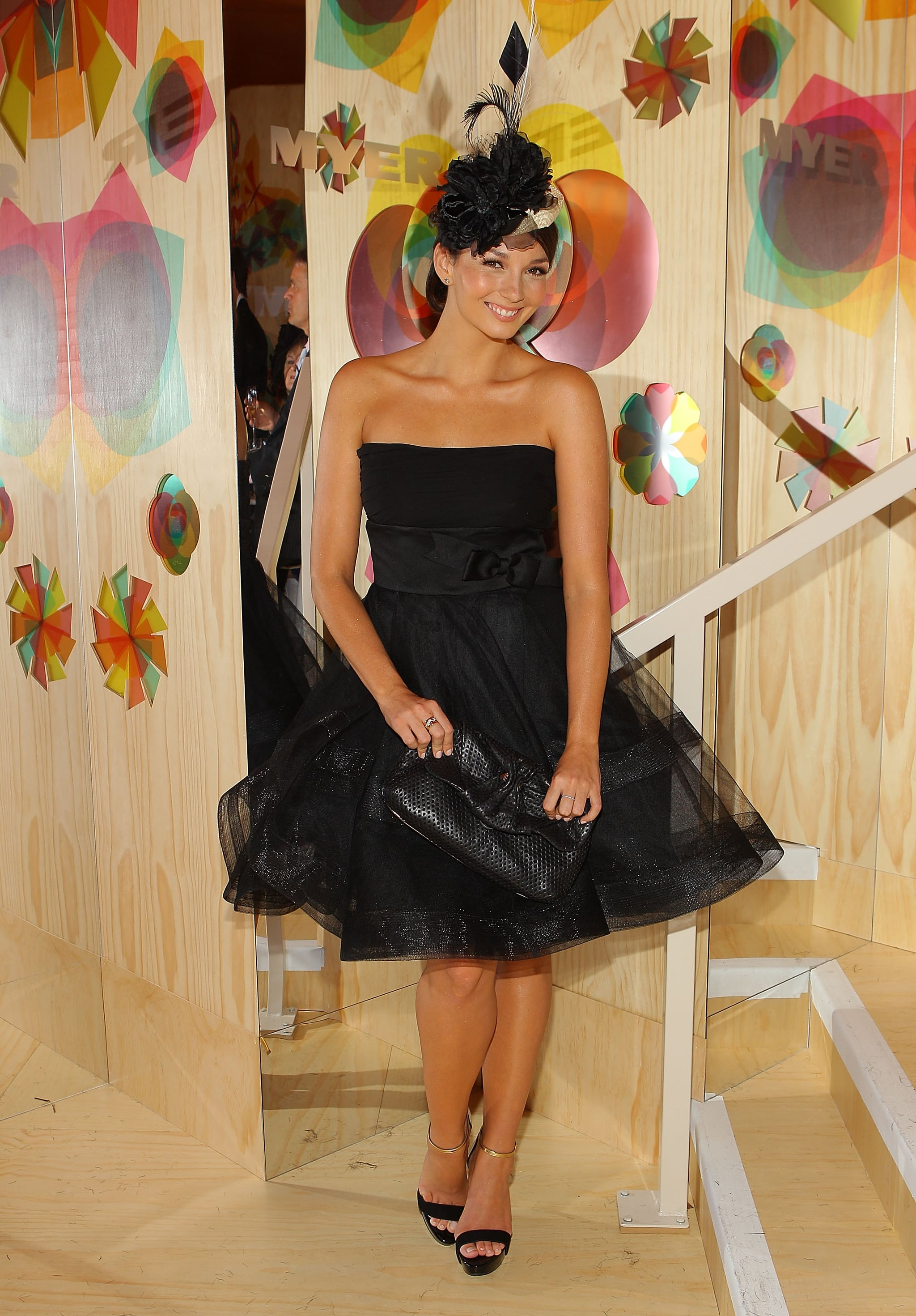 Alex Perry full skirted glamour on Ricki-Lee Coulter.