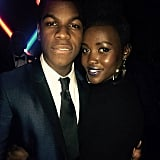 """Let it be known: I adore this man. @john_boyega A Force and a fun one at that. @starwars #theforceawakens London premiere."""