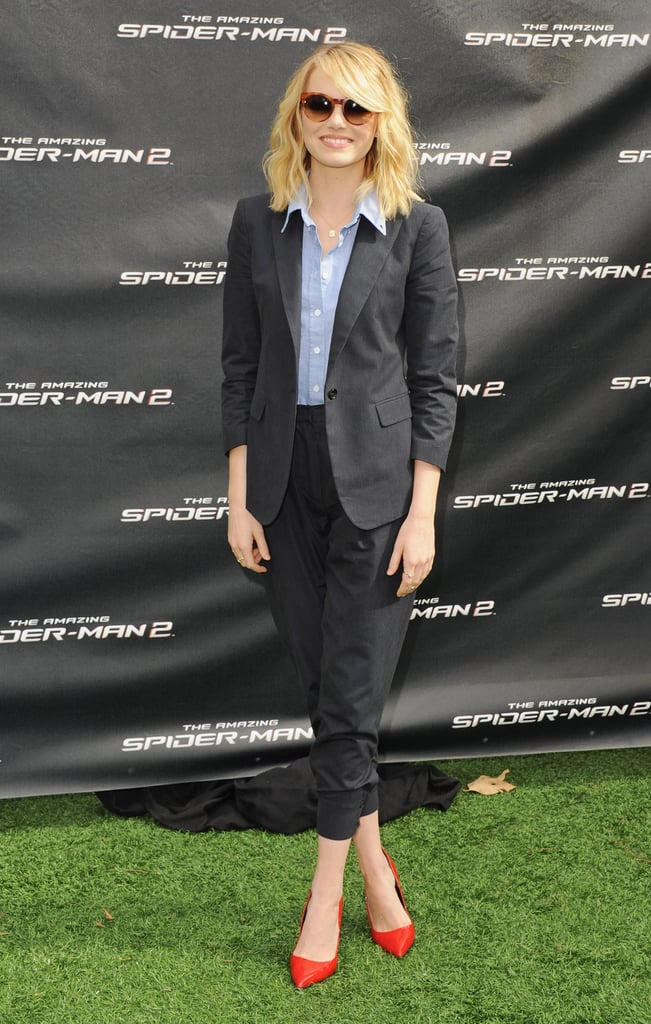 Emma Stone at an LA Press Event For The Amazing Spider-Man 2 in 2014