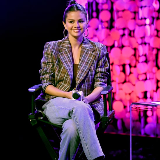 Selena Gomez Clueless-Inspired Plaid Blazer at Album Release