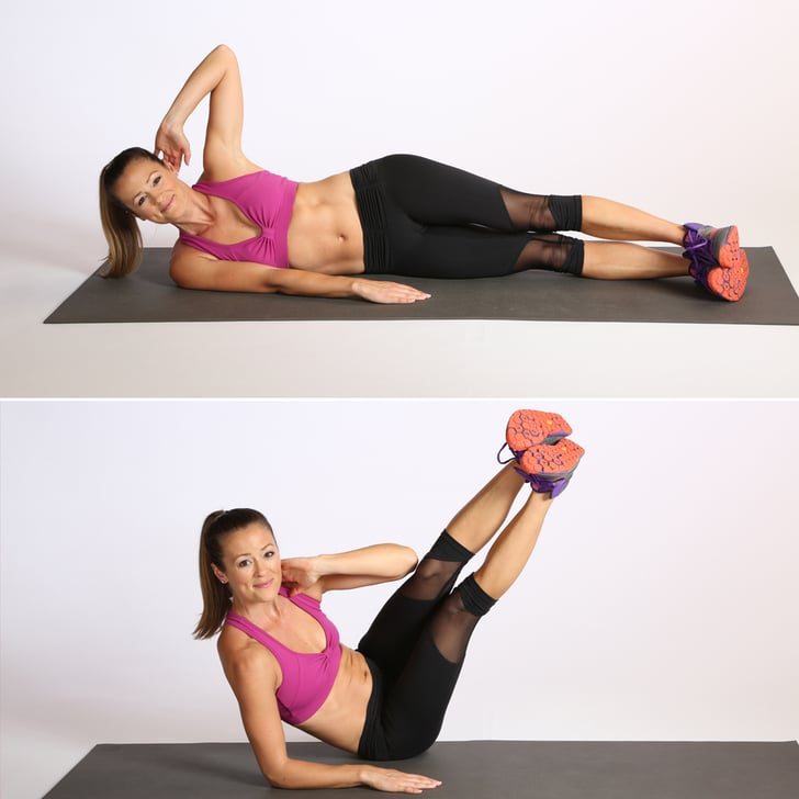Core Oblique V Crunch Best Bodyweight Exercises