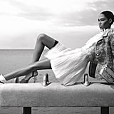 Joan Smalls looks lovely in Chanel '12 atop a gymnastic pommel horse. Source: Fashion Gone Rogue