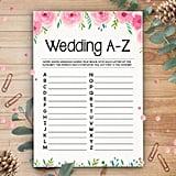 Printable Wedding A-Z Game