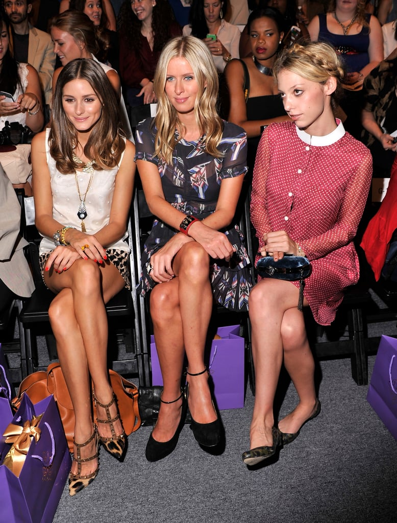 Olivia Palermo, Nicky Hilton, and Cory Kennedy made a picture-perfect trio in Noon by Noor's front row.