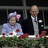 The royal couple enjoyed the 1991 derby from the balcony.