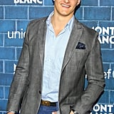 Alexander Ludwig wore a blazer and blue pants.