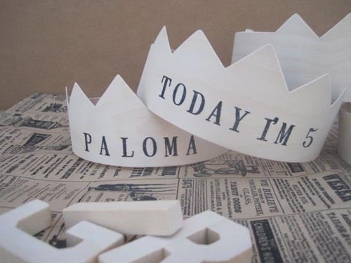 Custom Wooden Party Crowns