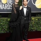Angelina Jolie and Son Pax at the 2018 Golden Globes
