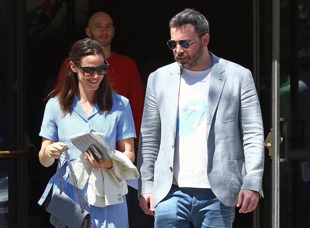 "Despite their recent divorce filing, Ben Affleck and Jennifer Garner are spending Easter together. On Sunday, the estranged couple was all smiles as they headed into church with their three kids, Violet, Seraphina, and Samuel, in LA. According to People, ""They are having an Easter celebration as a family at their house,"" and Jennifer — who turns 45 on Monday — ""seems fine"" since announcing their separation last week.       Related:                                                                                                           Here's Why Celebrity Couples Get Divorced After 10 Years               Ben and Jen were seen on separate outings around LA the same day that they filed for divorce. People also previously reported that Ben and Jen actually filed together, and without lawyers, which is increasingly rare in Hollywood. They are both seeking joint legal and physical custody of their children, and from the looks of it, they're still committed to maintaining a united front for the sake of their family."