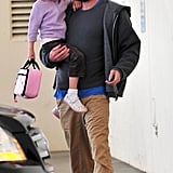 Pictures of Violet and Ben Affleck
