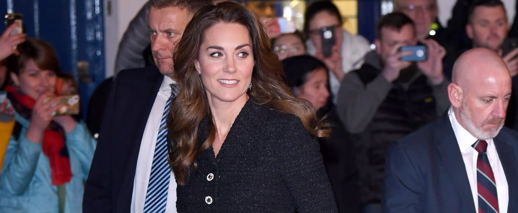 Kate Middleton's Black Dress and Jimmy Choo Glitter Shoes