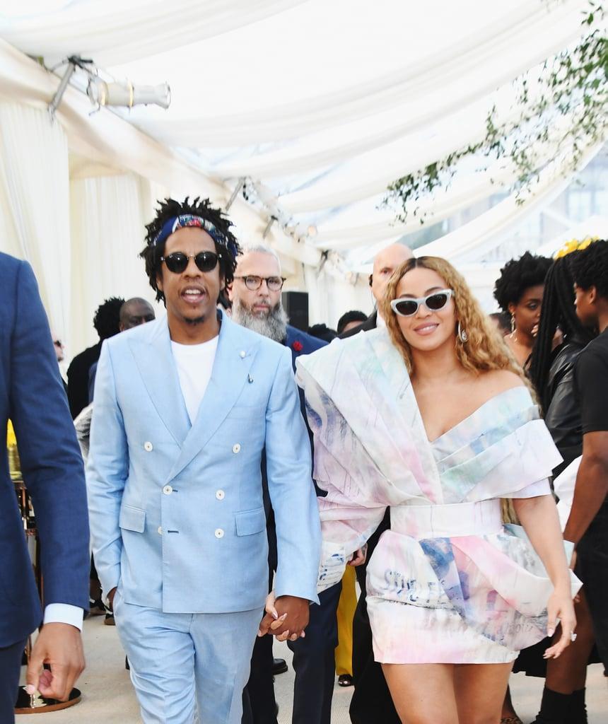 Beyoncé Balmain Dress and Heels at Roc Nation Brunch 2019