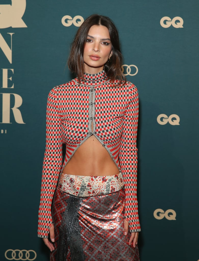 Don't Let Emily Ratajkowski's Cropped Sweater Distract You From How Sexy Her Shoe Game Is