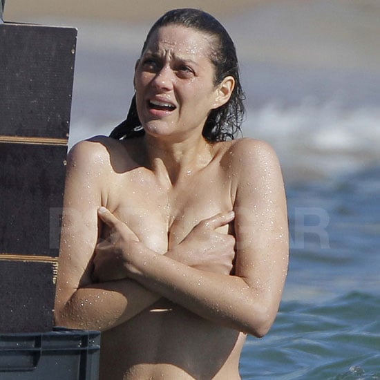 Marion Cotillard Topless Pictures on Rust and Bone Set