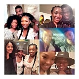 Brandy shared a collage of her sweet Thanksgiving moments with friends and family, including her brother, Ray J, and Angela Bassett.