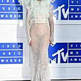 Wearing a stunning Francesco Scognamiglio dress at the 2016 MTV Video Music Awards.