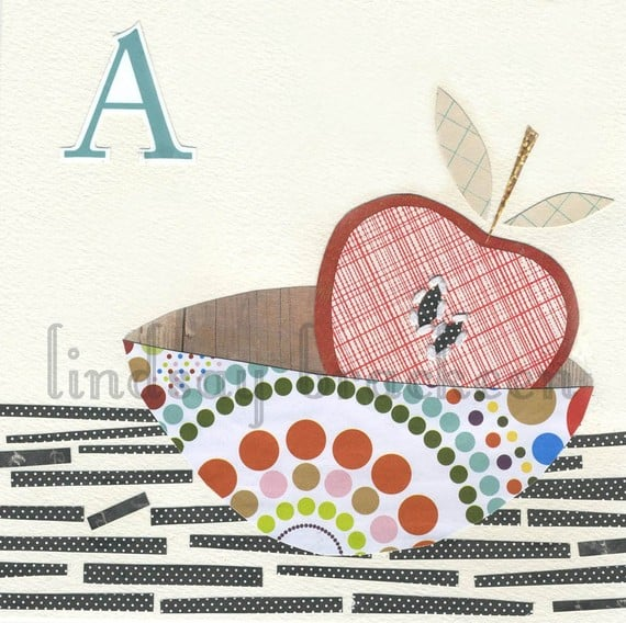 A as in Apple Letter Print ($18)
