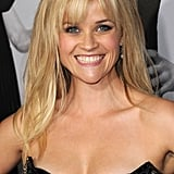 Reese Witherspoon hand bangs at the LA premiere of This Means War.