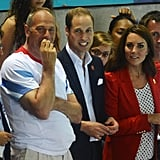 Prince William and Kate took in the final night of swimming.