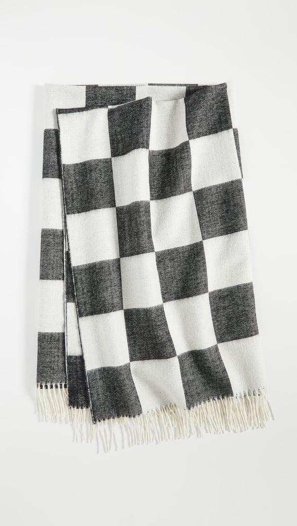 Jonathan Adler Checkerboard Baby Alpaca Throw Blanket
