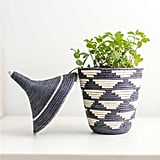 Medium Whimsical Basket in Charcoal ($88)