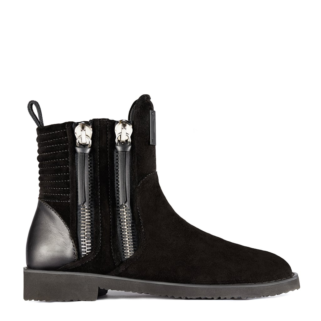 The Giuseppe for Zayn Zigi Black Suede Ankle Boots