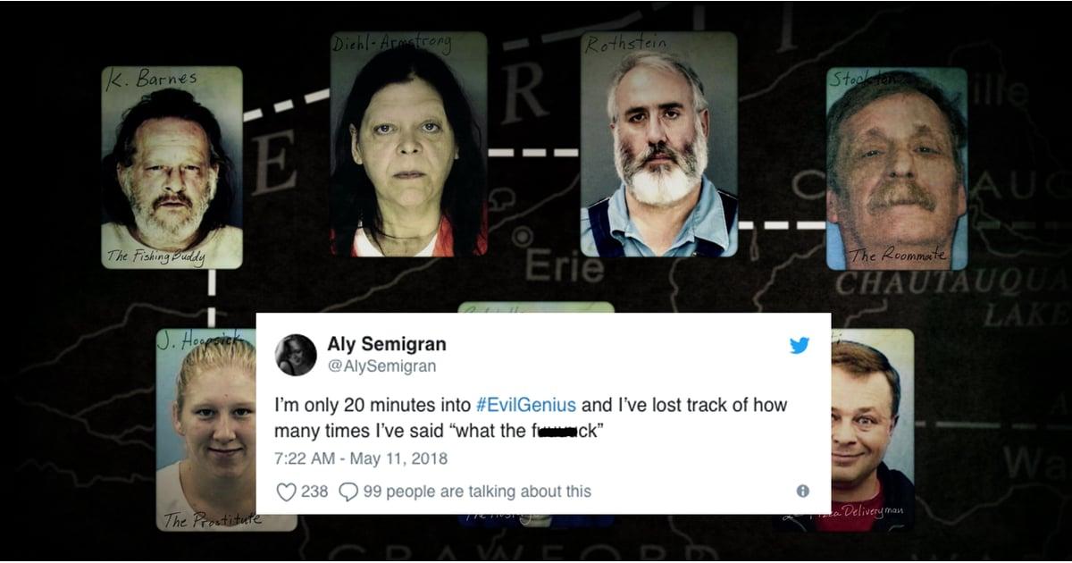 Reactions to Evil Genius on Netflix | POPSUGAR Entertainment