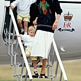 Diana Arriving in Scotland With William and Harry, 1986