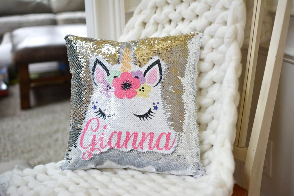 Sequin Unicorn Pillows Popsugar Family