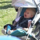 Tennessee Toth sat in his stroller.