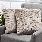 Christopher Knight Home Elise Faux Fur Square Throw Pillows