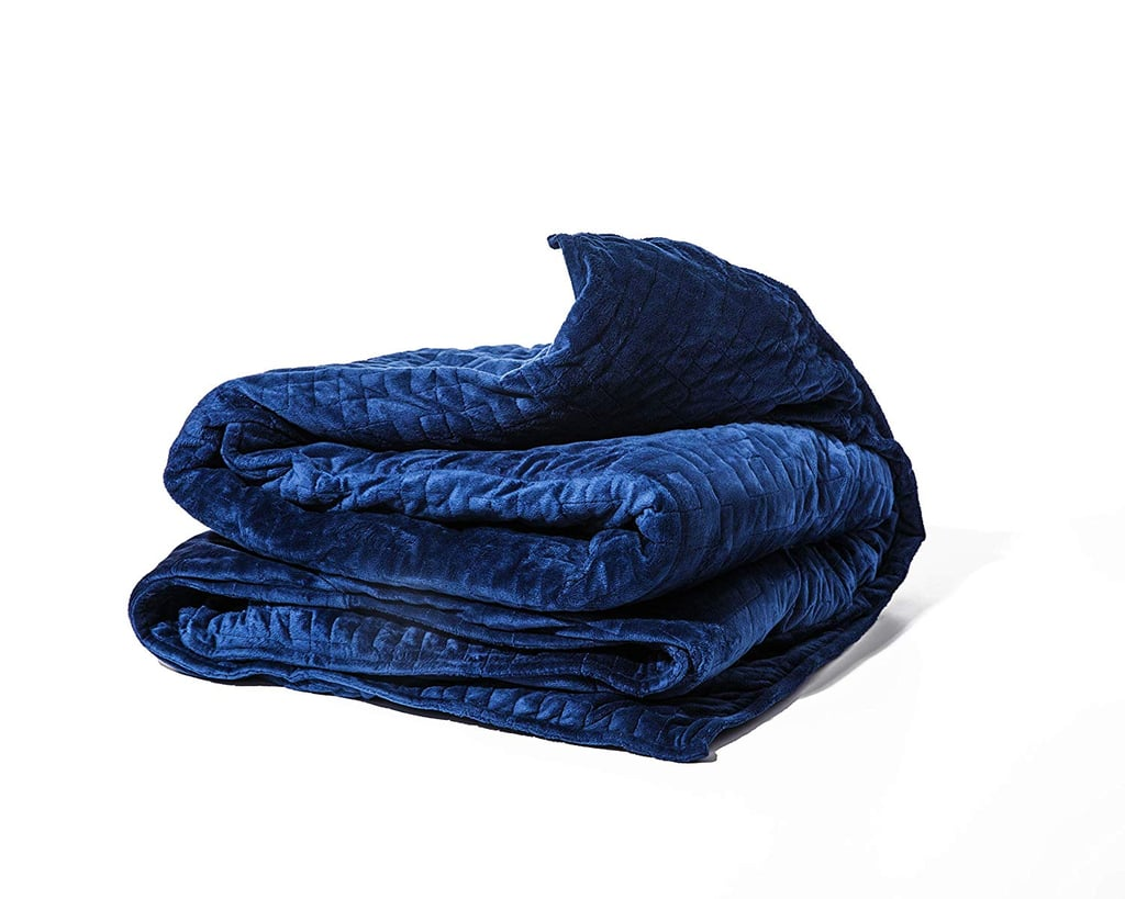 gravity blanket the weighted blanket for sleep stress and anxiety in blue weighted blanket. Black Bedroom Furniture Sets. Home Design Ideas