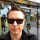 Mark Hoppus showed off his hairdo. Source: Twitter user markhoppus