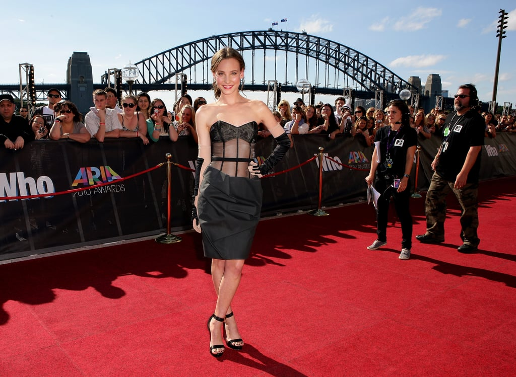 Australia's Next Top Model runner up Kelsey Martinovich looking frocktastic in a Paule Ka bodiced black number.