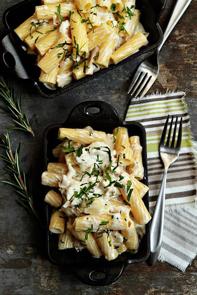 Macaroni and Cheese With Roasted Chicken, Goat Cheese, and Rosemary