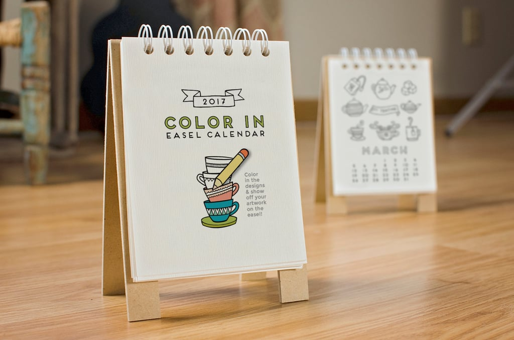 Easel desk calendar adult coloring 20