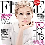 Michelle Williams cover the July 2012 issue of Flare magazine.