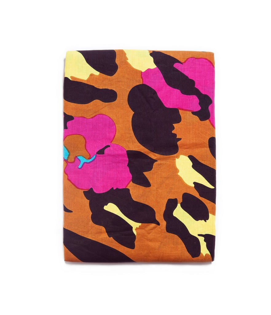 Zara's Neon Leopard-Print Scarf ($30) will look great against a white tee and denim shorts — it can also double as a head scarf, or impromptu blanket for watching bands in the grass.