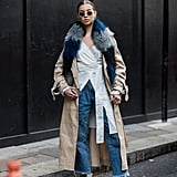 Pair With Denim and Layer a Furry Colored Stole on Top