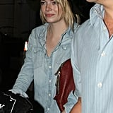 Emma Stone With Luggage at LAX Pictures