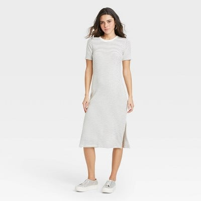 Cool and Casual: A New Day Short Sleeve Rib Knit T-Shirt Dres