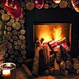 Cozy up by the fire and talk.