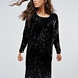 Only Studio Yoko Velvet Burnout Shift Dress