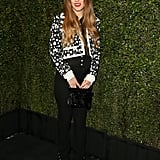 Riley Keough let her hair down for the Chanel and Charles Finch dinner at Madeo.