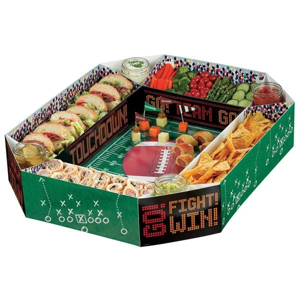Football Snack Stadium Chip and Dip Platter