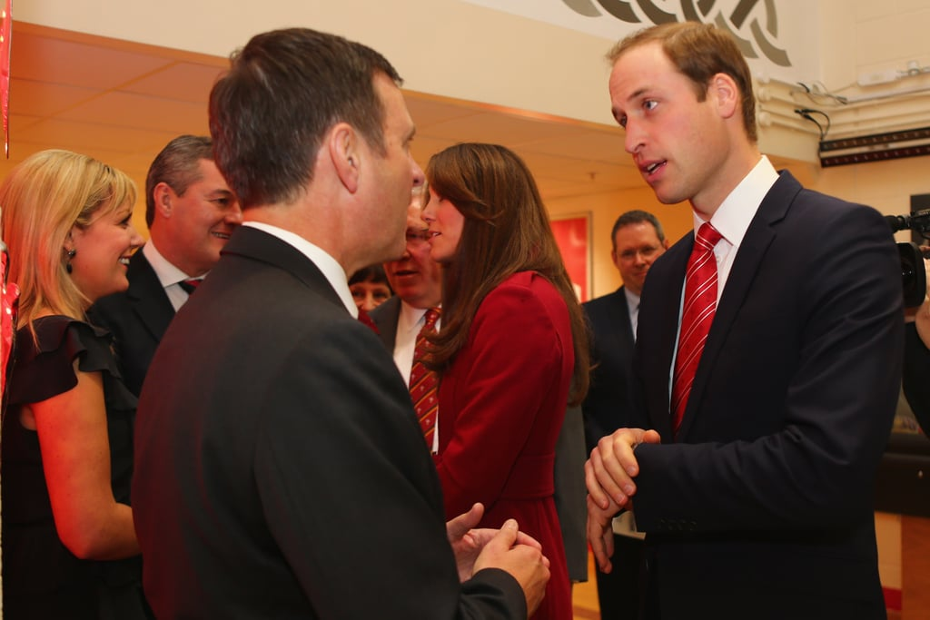 Prince William took time out to speak to as many guests as he could.