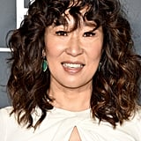 Sandra Oh With Curly Bangs