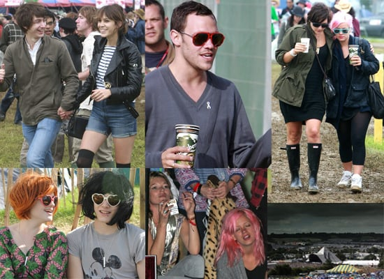 Photos from backstage at the Glastonbury Festival 2008