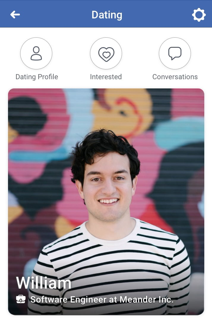 Facebook dating profiles