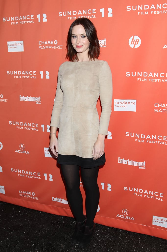 Despite the snow falling outside, Emily Blunt went with a cute dress and booties for the Sundance premiere of Your Sister's Sister in Park City on Friday evening. She was joined by her costars in the movie, including Mark Duplass and Rosmarie Dewitt, though Emily's husband John Krasinski was busy in LA with the press junket for Big Miracle. John will be headed to Utah soon enough though, since he has his own project, Nobody Walks debuting on Sunday. Hopefully John and Emily will get to overlap in the Winter wonderland, though he's in the thick of promoting his dramatic whale movie. Next up for Emily is Five Year Engagement which made BuzzSugar's short list of the five movies they are most excited to see in 2012.